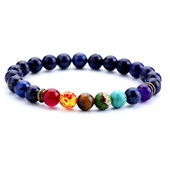 Assorted Lava Stone Bracelets (6 Pieces)