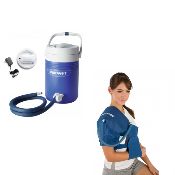 Aircast Shoulder Cryo/Cuff & IC Cooler Combo Motorized
