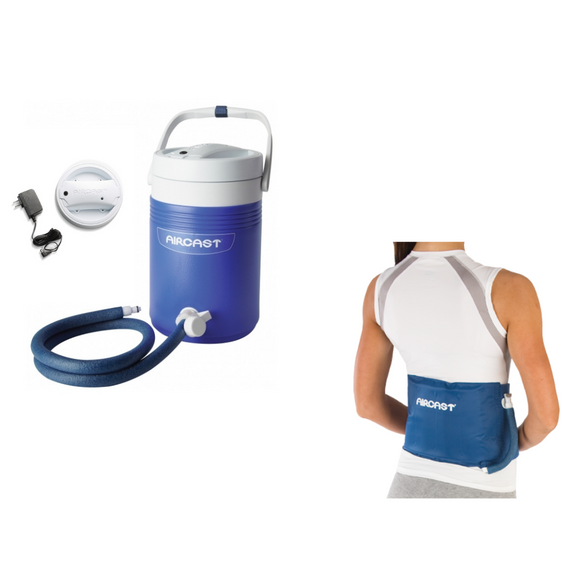 Aircast Back/Hip/Rib Cryo/Cuff & IC Cooler Combo Motorized