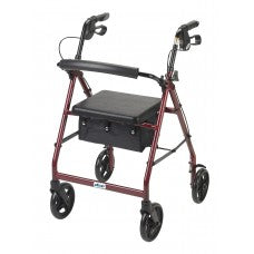 Drive Medical Aluminum Fold Up/ Removable Back Support and Padded Seat Rollator