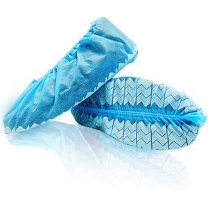Wave Shoe Covers Disposable with Non-Skid Print Made in Canada (150 pairs)