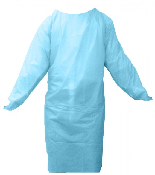Disposable Gown Cast Polyethylene With Thumb Loops (50/Case)
