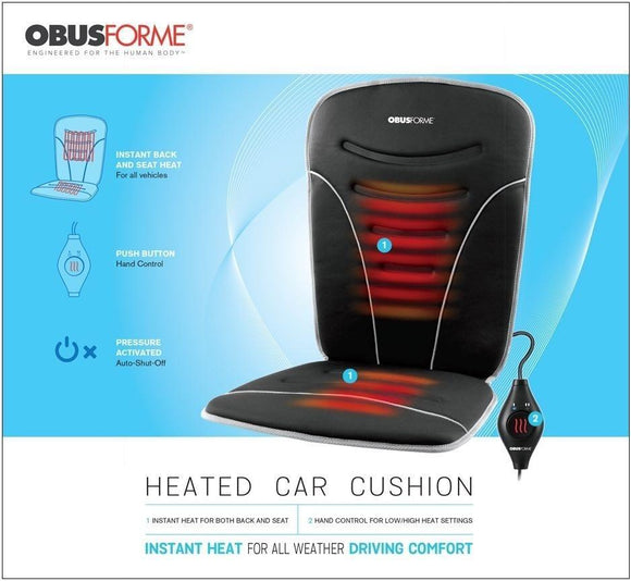 ObusForme Back & Seat Heated Car Cushion - SpaSupply