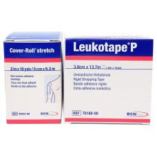 "Leukotape P & Cover-roll Stretch Combo Pack (1.5""x15yds & 2in x 10yds)"