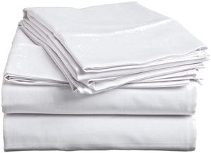 "Spa Sheet Flat 56""W x 94""L T-200 Non Iron Cotton-Poly (12 Pack)"