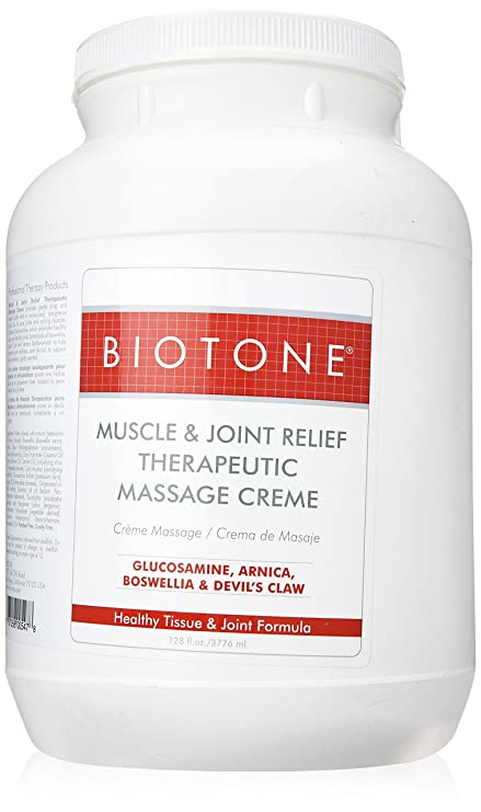 BIOTONE Muscle & Joint Relief Massage Creme 1 Gal