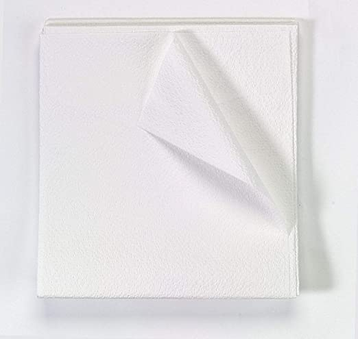 Exam Drape Sheet 40 in x 60 in Tissue 2 Ply White 100/Ca