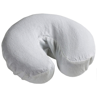 Cotton Flannel Fitted Face Rest Covers White (3 Pack)