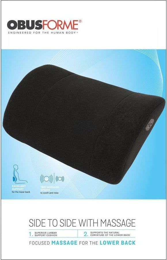 ObusForme Side to Side Lumbar Cushion with Massage - SpaSupply