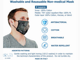 REUSABLE MASKS W/FILTER - (Made In Italy)