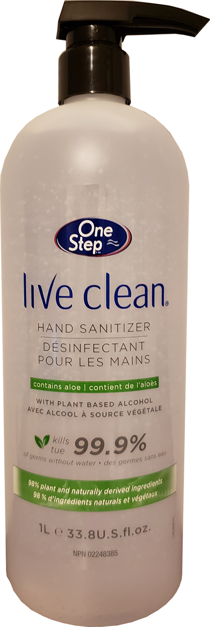 One Step Live Clean Hand Sanitizer 1L 3 Pack