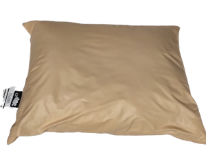 "Peach Vinyl Pillow 24""x18"""