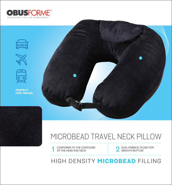 ObusForme Microbead Travel Neck Pillow - SpaSupply