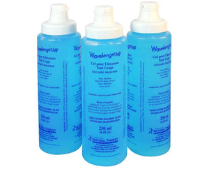 Wavelength Multi-Purpose Ultrasound Gel 250 mL (3 Bottles) - SpaSupply