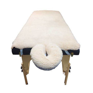 Complete Massage Table Fleece Pad Set - Cream - SpaSupply