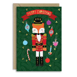 Nutcracker Fox Christmas card