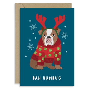 Bah Humbug Dog card