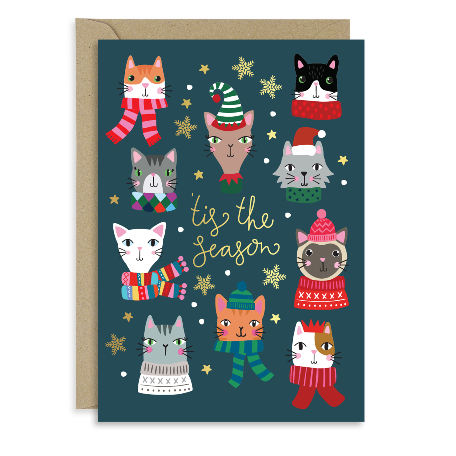Winter Cats card