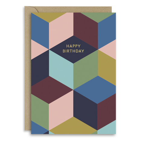 Cubist Birthday Card
