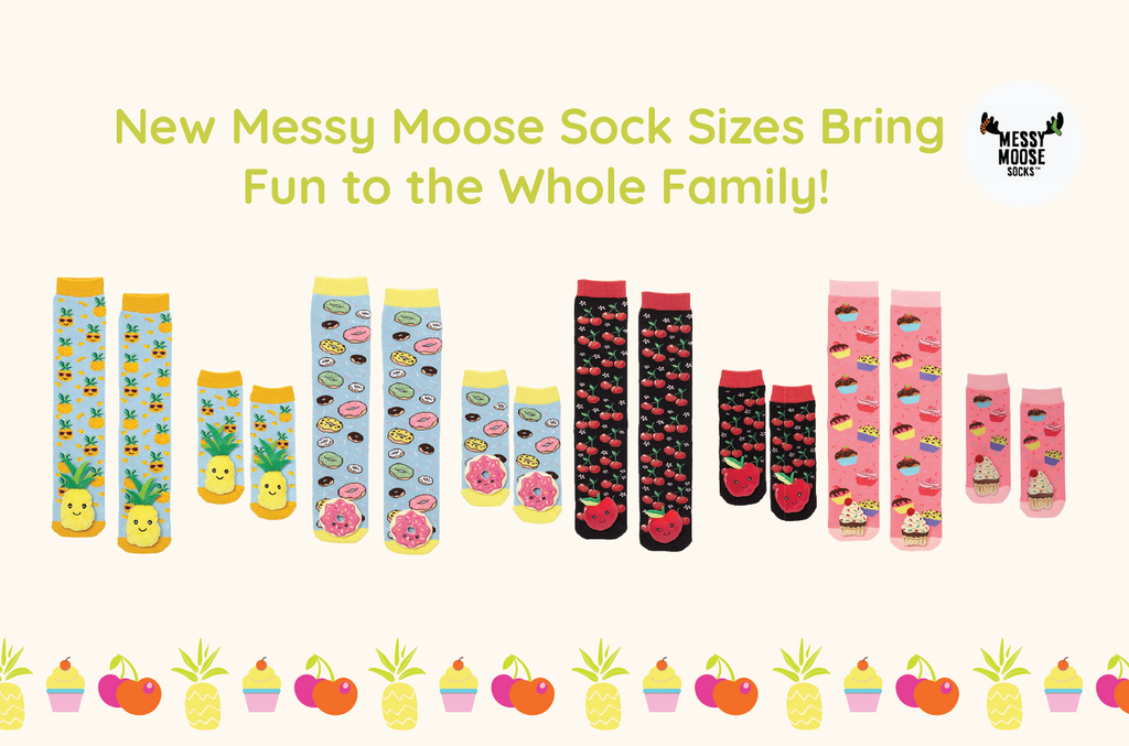 New Messy Moose Sock Sizes Bring Fun to the Whole Family!