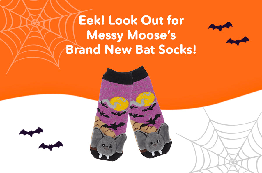 Look Out for Messy Moose's Brand New Bat Socks