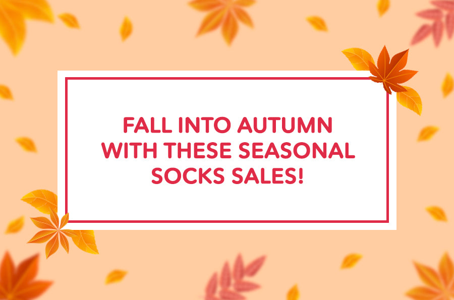Fall into Autumn with these Seasonal Socks Sale!