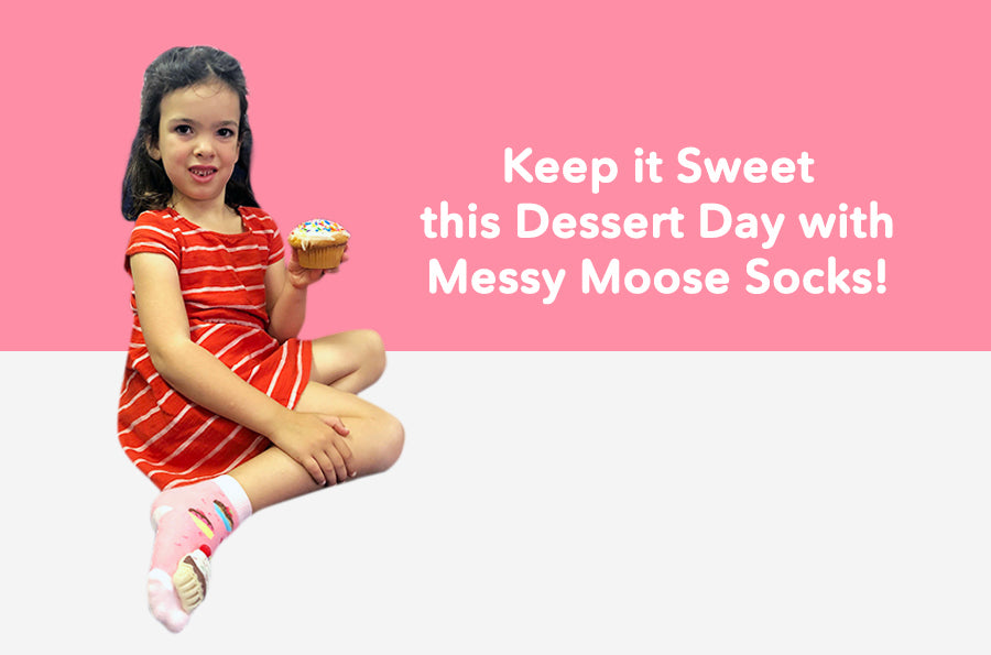 Keep it Sweet this Dessert Day with Messy Moose Socks!