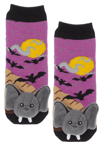 Bat Slipper Socks