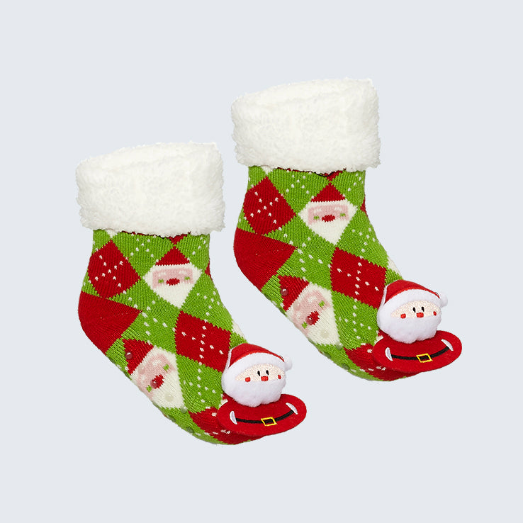 Polar Fleece Socks Santa