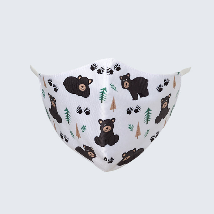 Black Bear Kids Face Mask