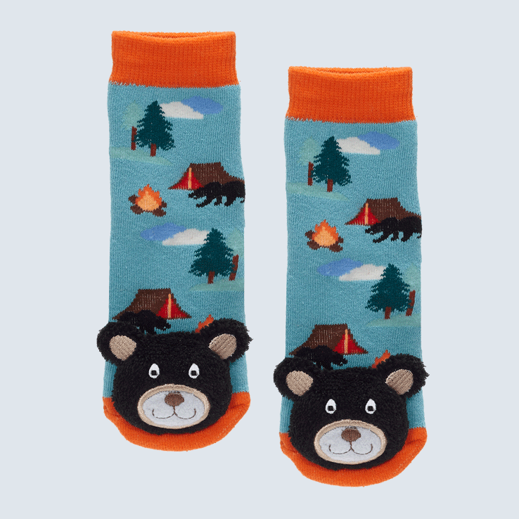 Baby Socks Camp Fire Black Bear