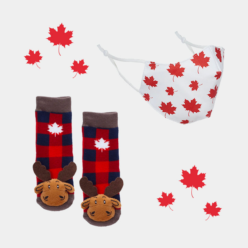 Maple Leafs Face Mask & Socks Set