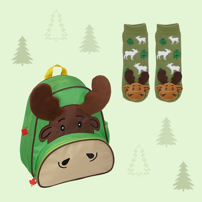 Moose Backpack & Socks Set