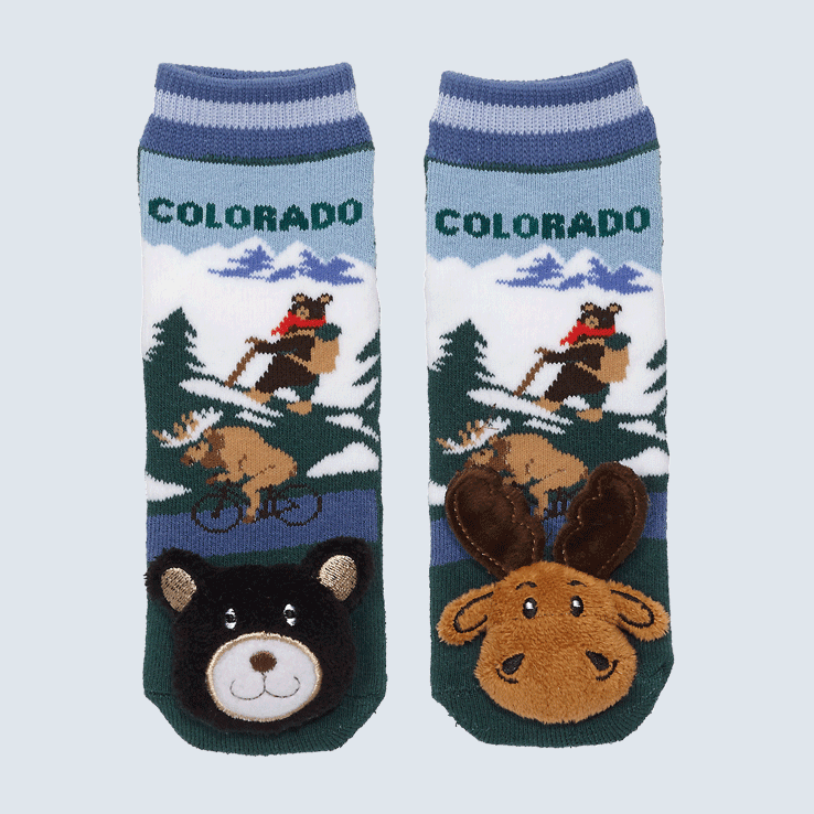Baby Socks Colorado Moose and Black Bear