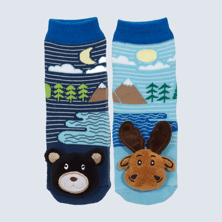 Baby Socks Moose and Black Bear