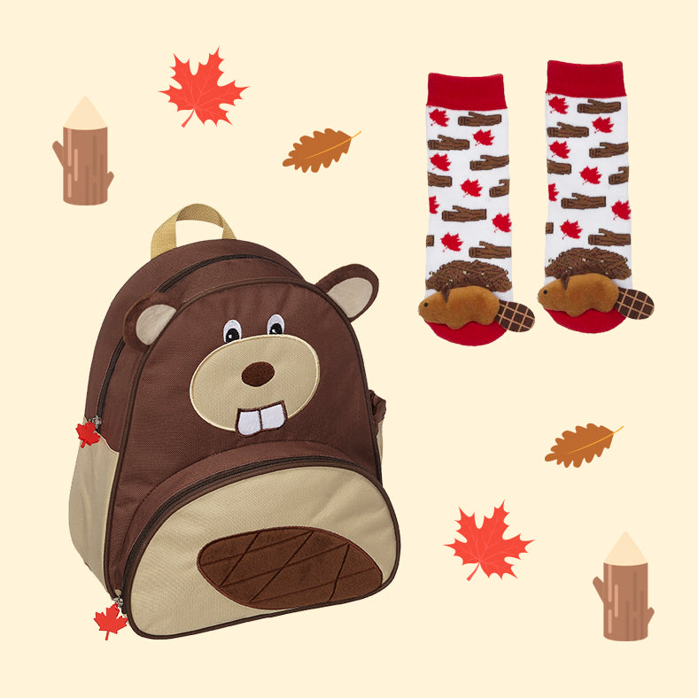 Beaver Backpack & Socks Set