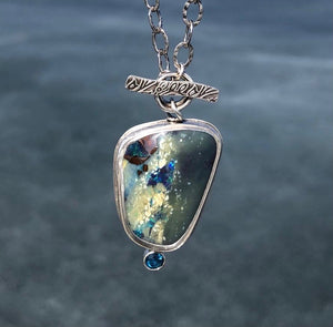 Pendant Boulder Opal and Topaz