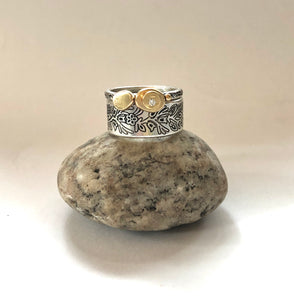 Stack these two rings together, what a BEAUTIFUL combination!! Woodland Band and Pebble ring.