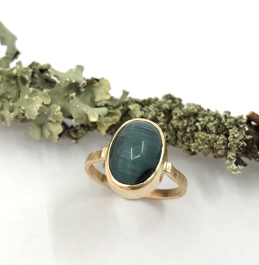 Ring Apatite Cats Eye Gold~ Sold