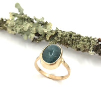 Load image into Gallery viewer, Ring Apatite Cats Eye Gold~ Sold