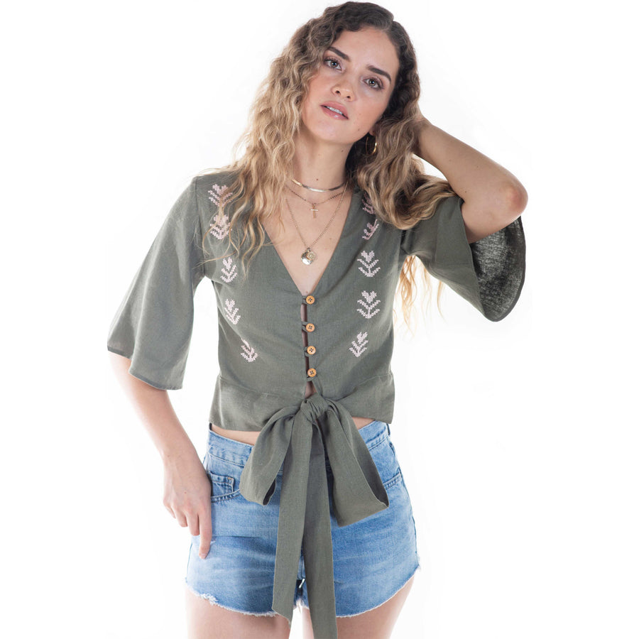 las hadas top in green