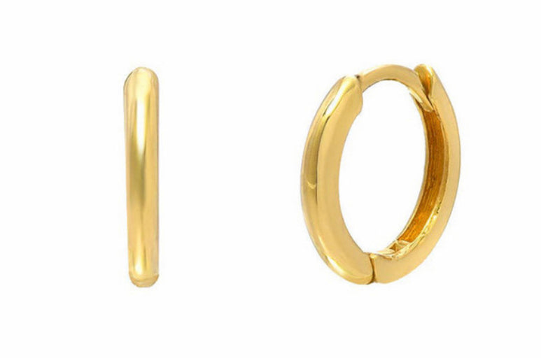 The Huggie Gold Hoop Earrings