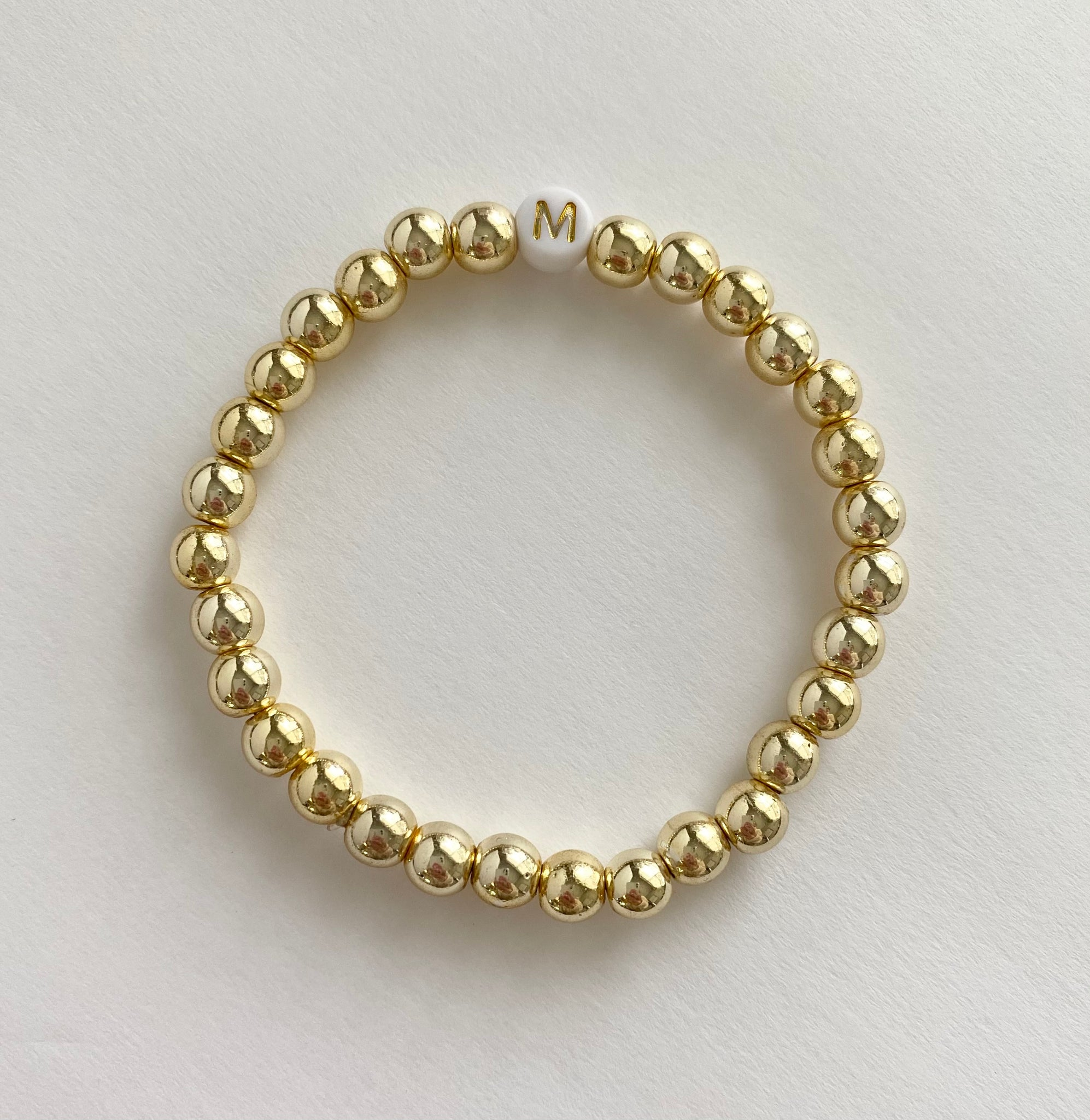 The Goldie Single Letter Personalized Bracelet