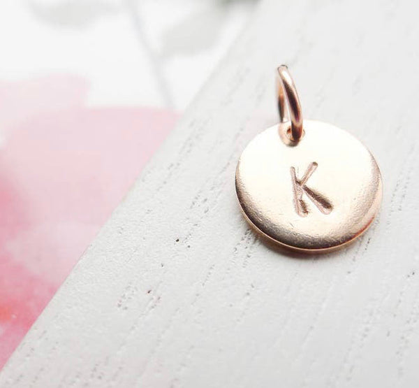 PRE-ORDER Hand Stamped Gold Circle Necklace