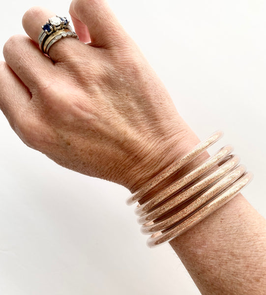 The Goldie Jelly Bracelet in Rose Gold