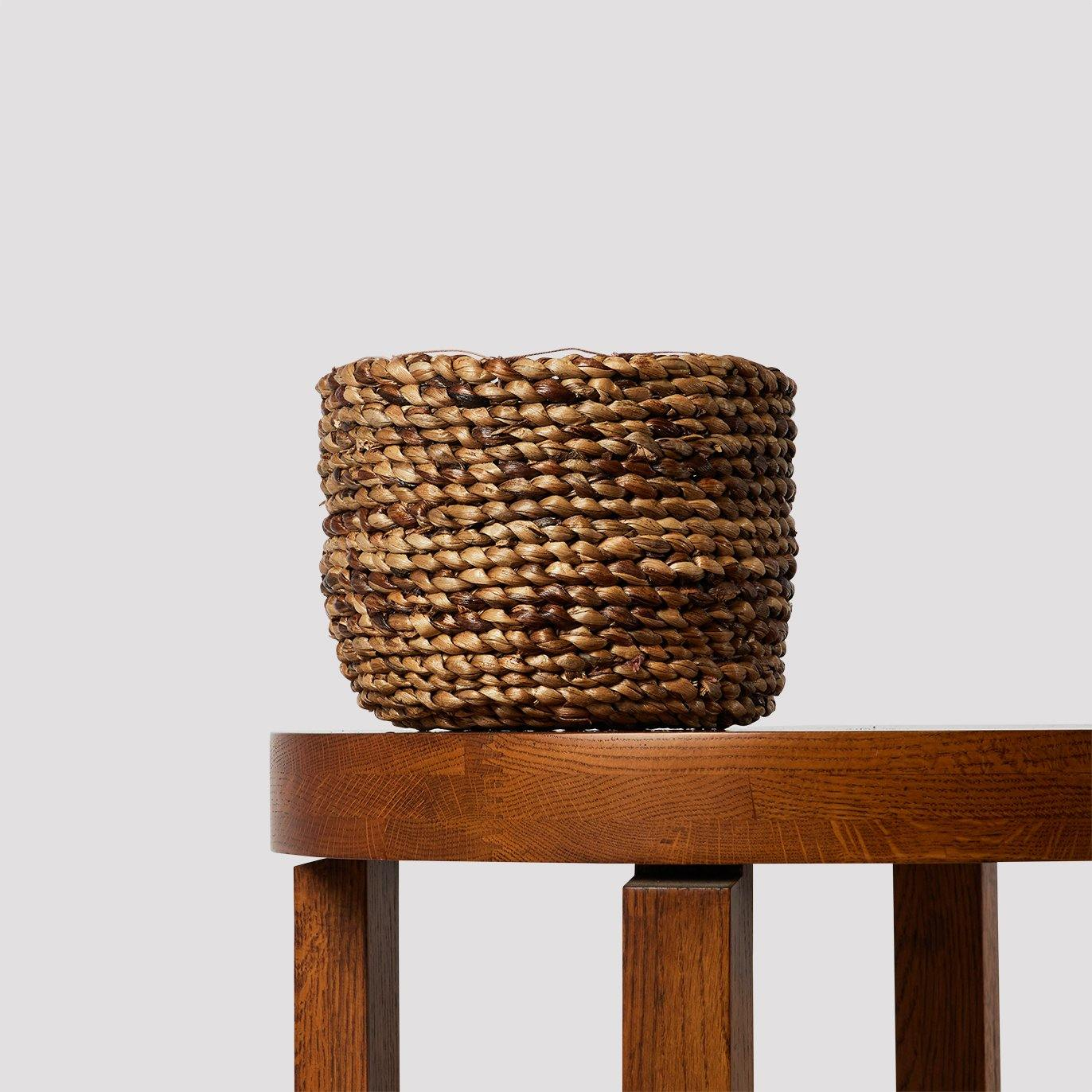 Alba Natural Hyacinth Basket - The Good Plant Co