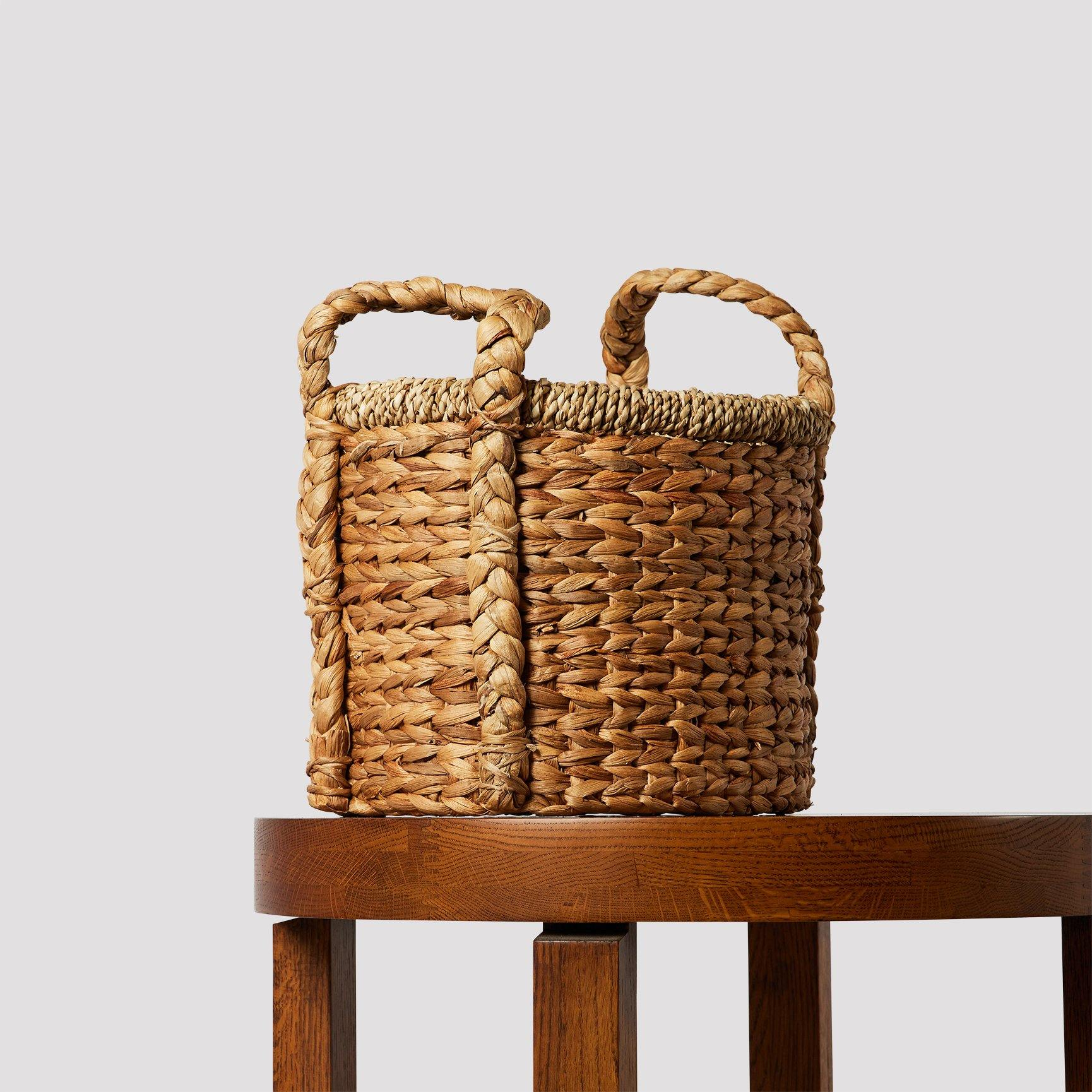 Dune Hyacinth and Jute Basket with Handle - The Good Plant Co