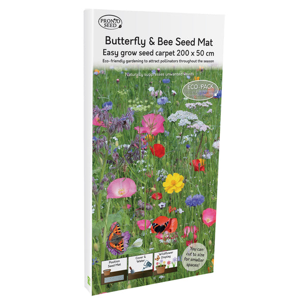 Pronto Seed Butterfly & Bee Attracting Flower Seed Planting Mat Carpet Biodegradable Eco Friendly (Butterfly & bee)