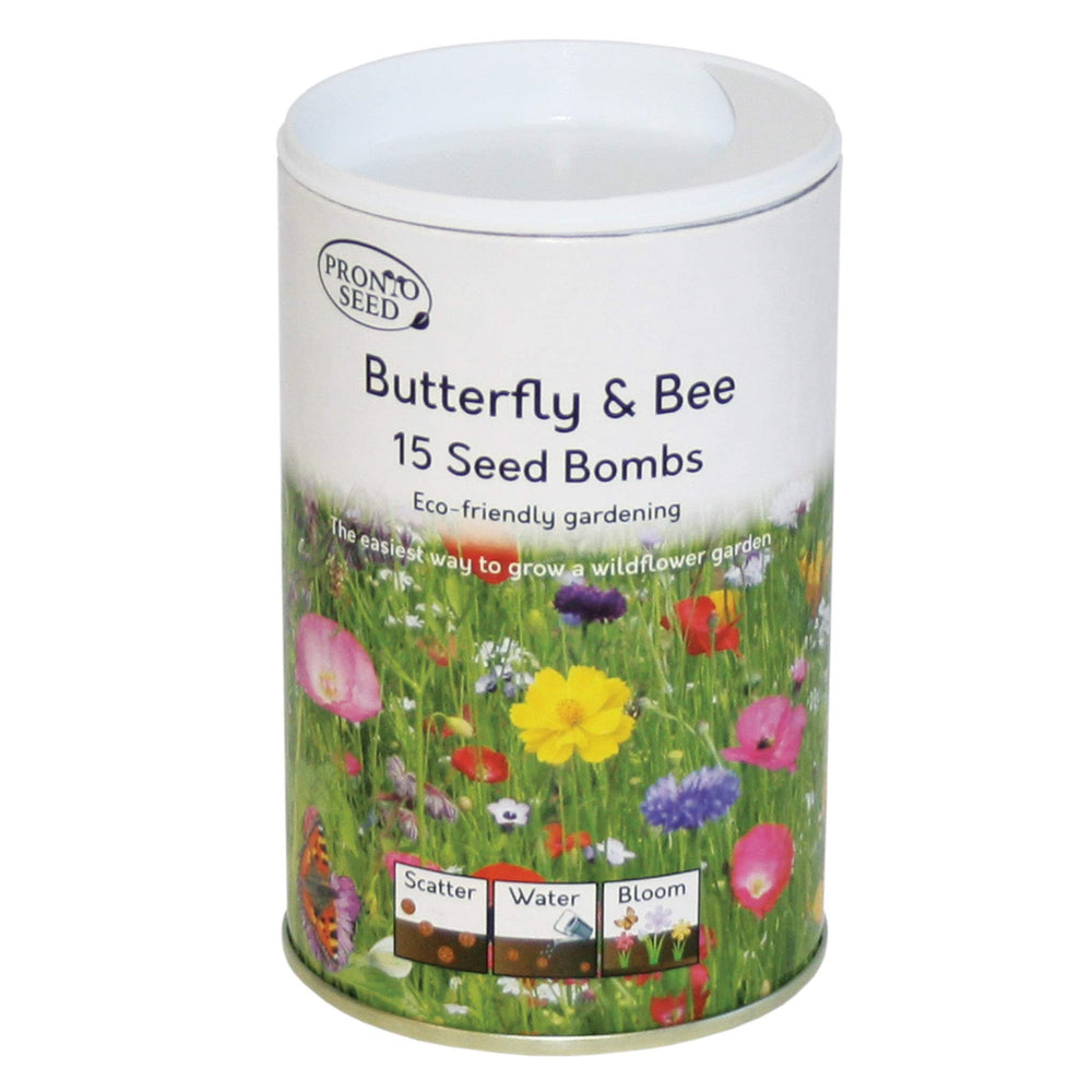 Pronto Seed - Seed Bombs, Butterfly & Bee Attracting, UK Wildflower Mix