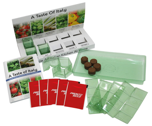 A Taste of Italy Herb Grow kit 100% Recyclable 5 Varieties to Grow Your Own Kit from Seed Eco Gifts Made with 100% Recyclable Materials